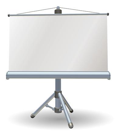 Ilustración de A blank presentation or projector roller screen - Imagen libre de derechos