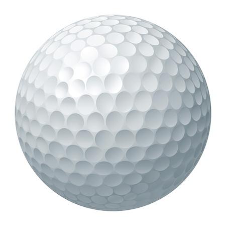 Illustration pour An illustration of a traditional white golf ball - image libre de droit