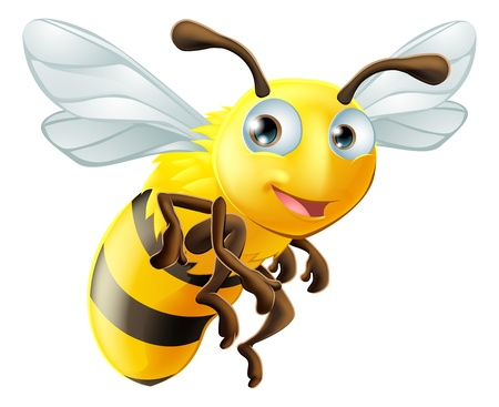 Illustration for An illustration of a cute cartoon bee - Royalty Free Image