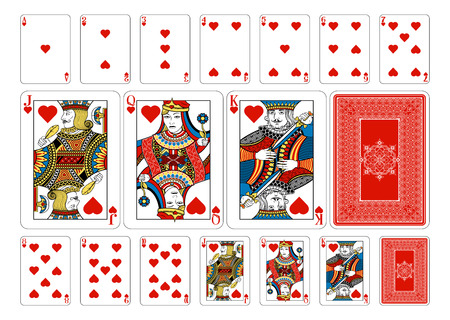 Illustration for Cards from the Georghiou 14 deck, a beautifully crafted new original playing card deck design. - Royalty Free Image