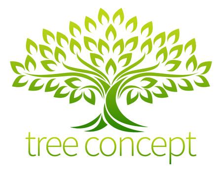 A stylised tree icon symbol concept illustration