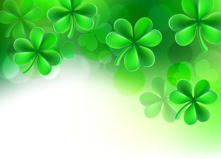 Illustration pour St Patricks Day Shamrock Clover Background - image libre de droit