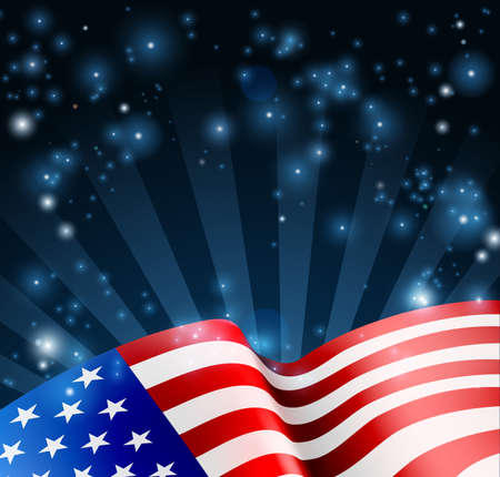 Illustration for American Flag Design Background - Royalty Free Image