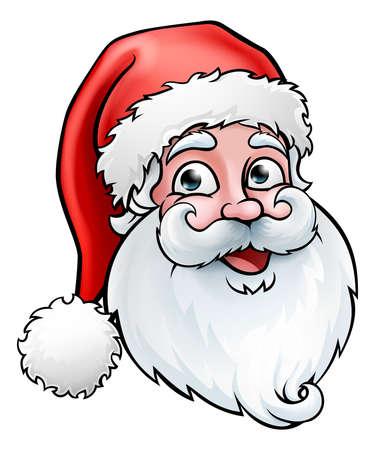 Ilustración de Santa Claus Christmas Cartoon - Imagen libre de derechos