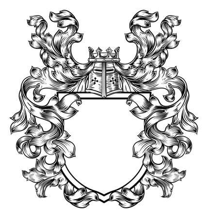 Ilustración de Heraldic crest design. - Imagen libre de derechos