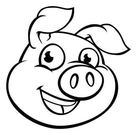Foto de Cartoon Pig Mascot Character - Imagen libre de derechos