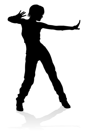 Illustration pour Street Dance Dancer Silhouette - image libre de droit