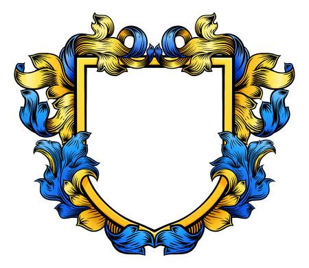Ilustración de Coat of Arms Crest Knight Heraldic Family Shield - Imagen libre de derechos