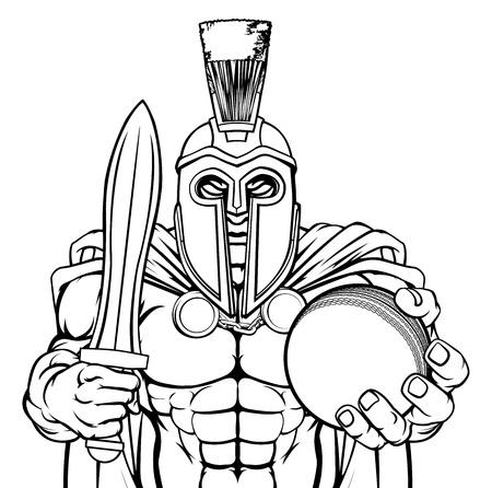 Spartan Trojan Cricket Sports Mascot