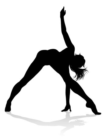 Illustration pour Women Dancer Silhouette - image libre de droit
