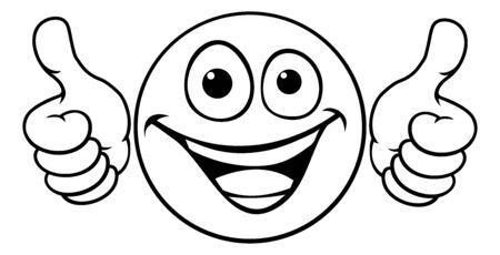 Illustration pour Emoticon Thumbs Up Icon - image libre de droit