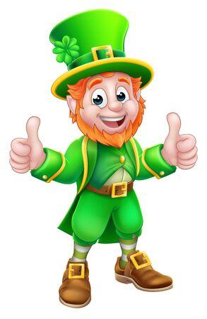 Illustration pour Leprechaun St Patricks Day Cartoon Character - image libre de droit