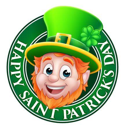 Illustration pour Leprechaun St Patricks Day Cartoon Design - image libre de droit