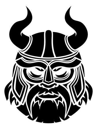 Illustration for Viking Mascot - Royalty Free Image
