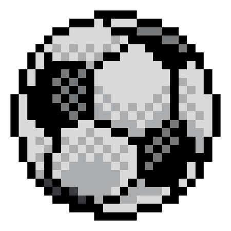 Ilustración de Soccer Football Ball Pixel Art Sports Game Icon - Imagen libre de derechos
