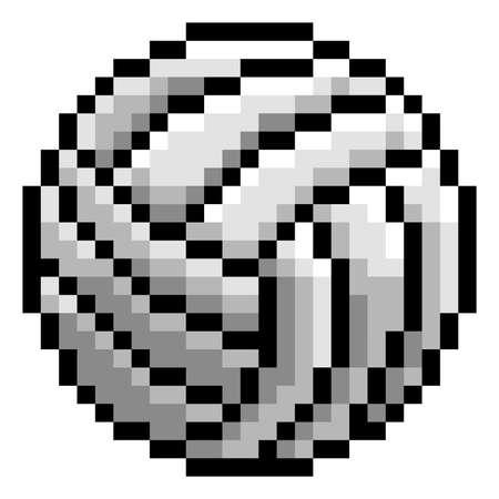 Ilustración de Volley Ball Pixel Art Eight Bit Game Icon - Imagen libre de derechos
