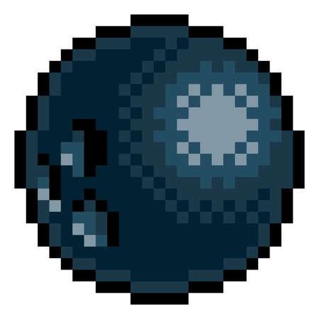 Ilustración de Bowling Ball Eight Bit Pixel Art Sports Game Icon - Imagen libre de derechos