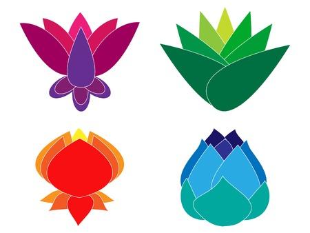 Illustration pour Lotus Set - image libre de droit