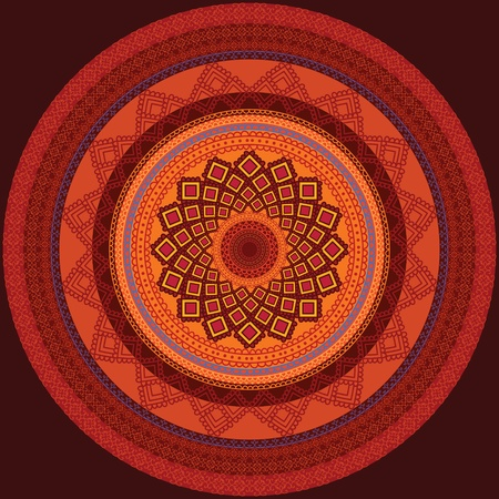 Colourful Henna Mandala Designの素材 [FY31012164673]