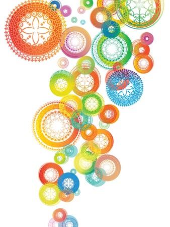 Henna Mandala Backgroundの素材 [FY31012164665]