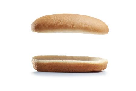 Bread Hot dog isolated white background.