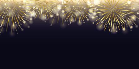 Illustration pour golden firework in the dark night celebration vector illustration EPS10 - image libre de droit