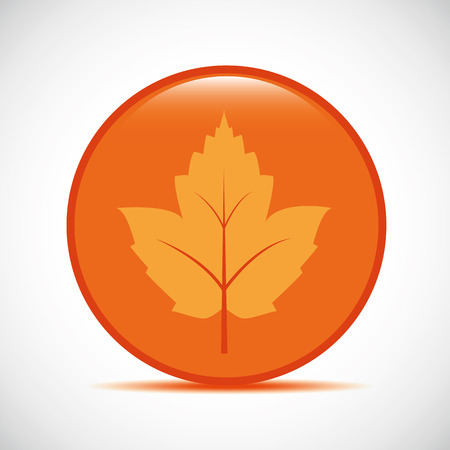 orange autumn leaf icon on a white background vector illustration