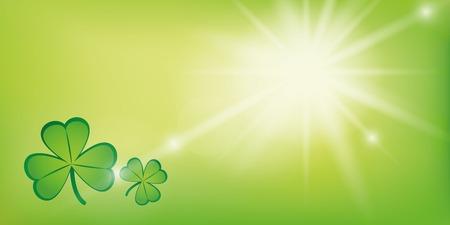 Ilustración de sunny green background with shamrock clover vector illustration EPS10 - Imagen libre de derechos