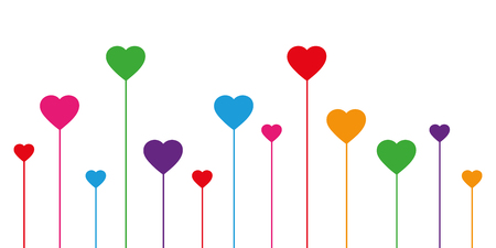 colorful heart decoration on white background vector illustration EPS10