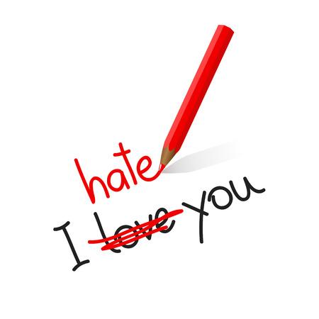 Illustration pour I hate love you typography vector illustration EPS10 - image libre de droit