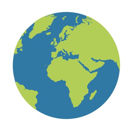 Illustration pour planet earth globe icon blue and green vector illustration EPS10 - image libre de droit