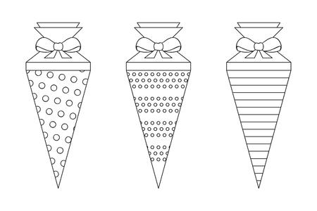 Illustration pour pattern school cone set for coloring vector illustration EPS10 - image libre de droit