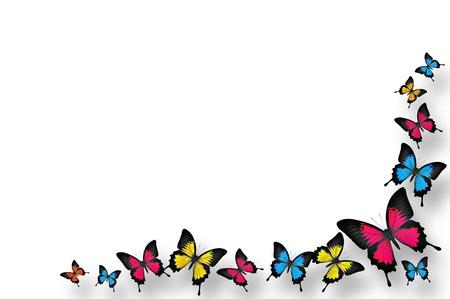 Butterflies border design