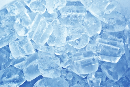 Blue ice abstract background