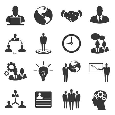 Illustration pour Business vector icon set on white background - image libre de droit