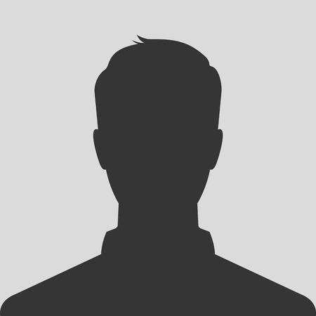 Male silhouette avatar profile picture
