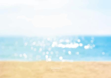 Illustration pour Summer beach with shiny sparkling sea water background - image libre de droit