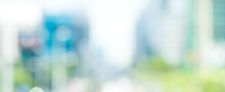 Photo pour Blur buildings in the city, panoramic banner background - image libre de droit