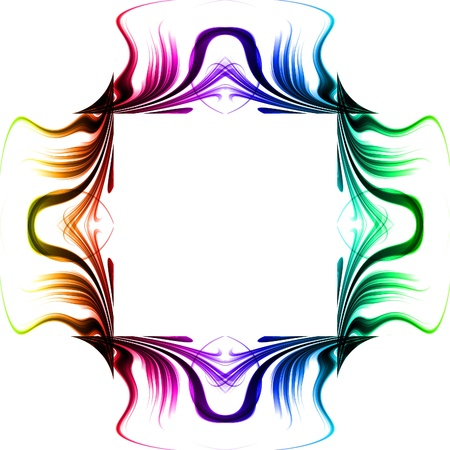 Photo pour Abstract glow frame background with colorful - image libre de droit