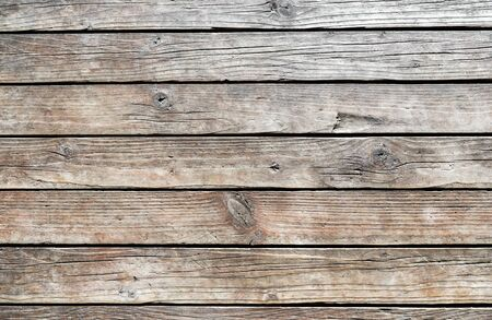Photo pour Horizontal wooden texture wall of rural house. Old dirty panels background. - image libre de droit