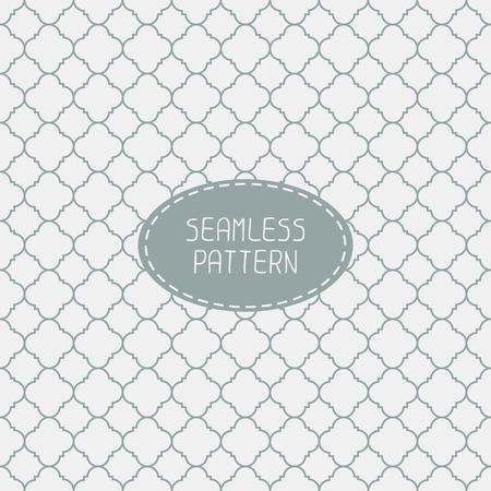 Ilustración de Geometric line monochrome lattice seamless arabic pattern. Islamic oriental style. Wrapping paper. Scrapbook paper. Tiling. White vector illustration. Moroccan background. Swatches. Graphic texture. - Imagen libre de derechos