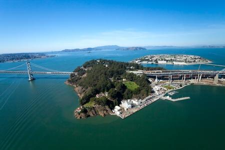 San Francisco Bay bridge and the Treasury Island