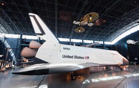 CHANTILLY, VIRGINIA - OCTOBER 10: Space Shuttle Enterprise at the National Air and Space Museum