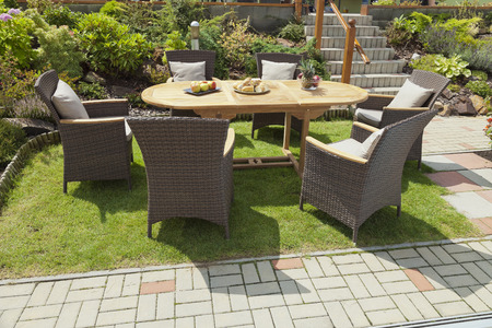 Photo for The Garden furniture in the garden - Royalty Free Image
