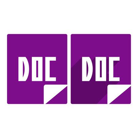 doc icon.vector illustration.