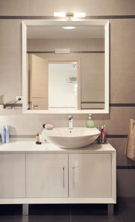 Interior of a modern toilet room.
