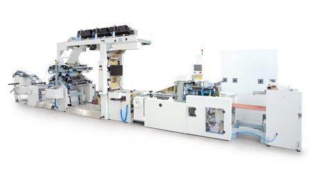 New printing machine, isolated on white background.