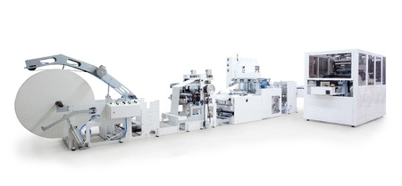 Parts and details of a printing and packaging machines.