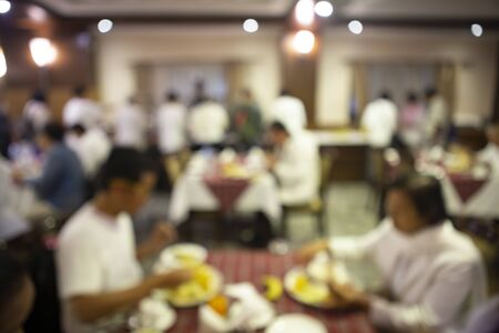 Photo pour Abstract blurred in restaurant and coffee shop. - image libre de droit
