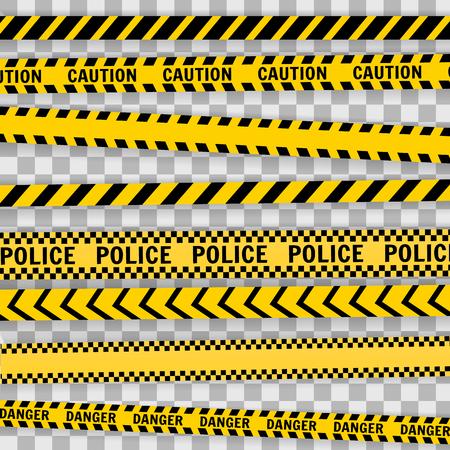 Illustration pour Police Line Set on a white background Vector illustration - image libre de droit